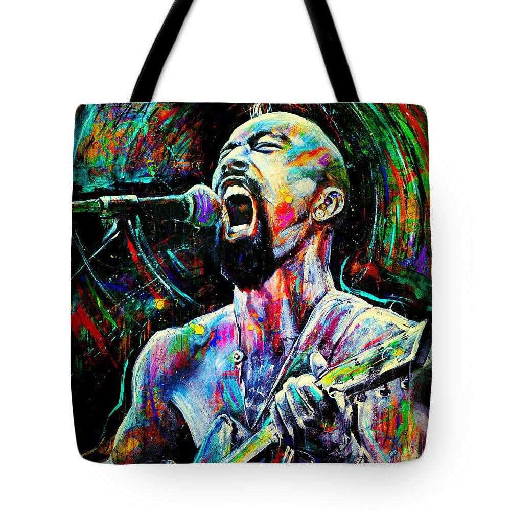 Nahko Bear Paintings Tote Bags