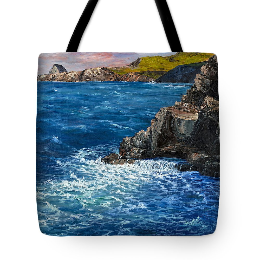 Seascape Tote Bag featuring the painting Nakalele Point Maui by Darice Machel McGuire