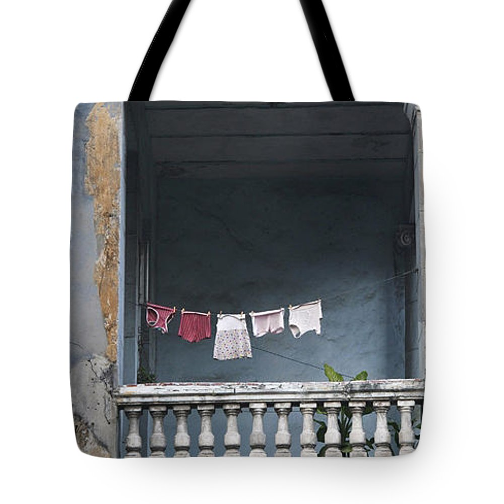 Havana Tote Bag featuring the photograph Naked Balcony by Gaston B Duarte