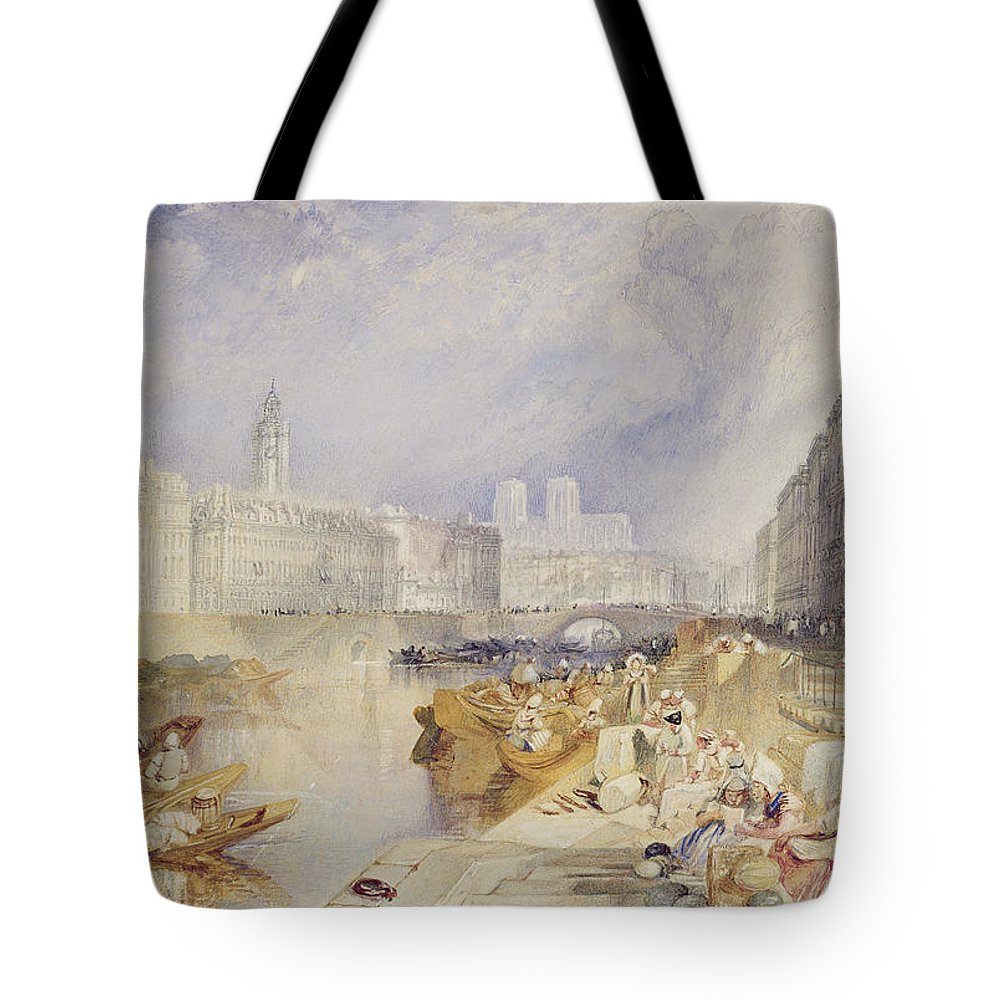 Nantes Tote Bag featuring the painting Nantes by Joseph Mallord William Turner