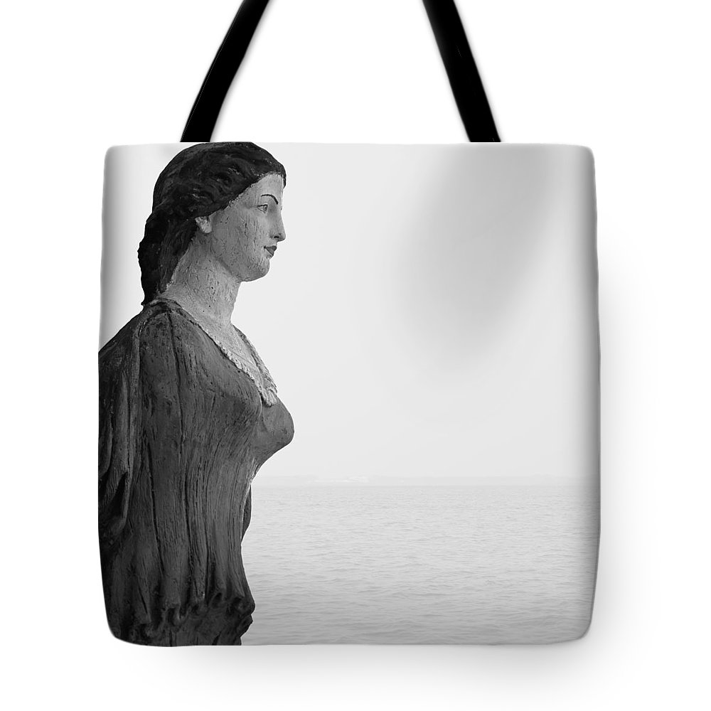 Nantucket Tote Bag featuring the photograph Nantucket Figurehead by Charles Harden