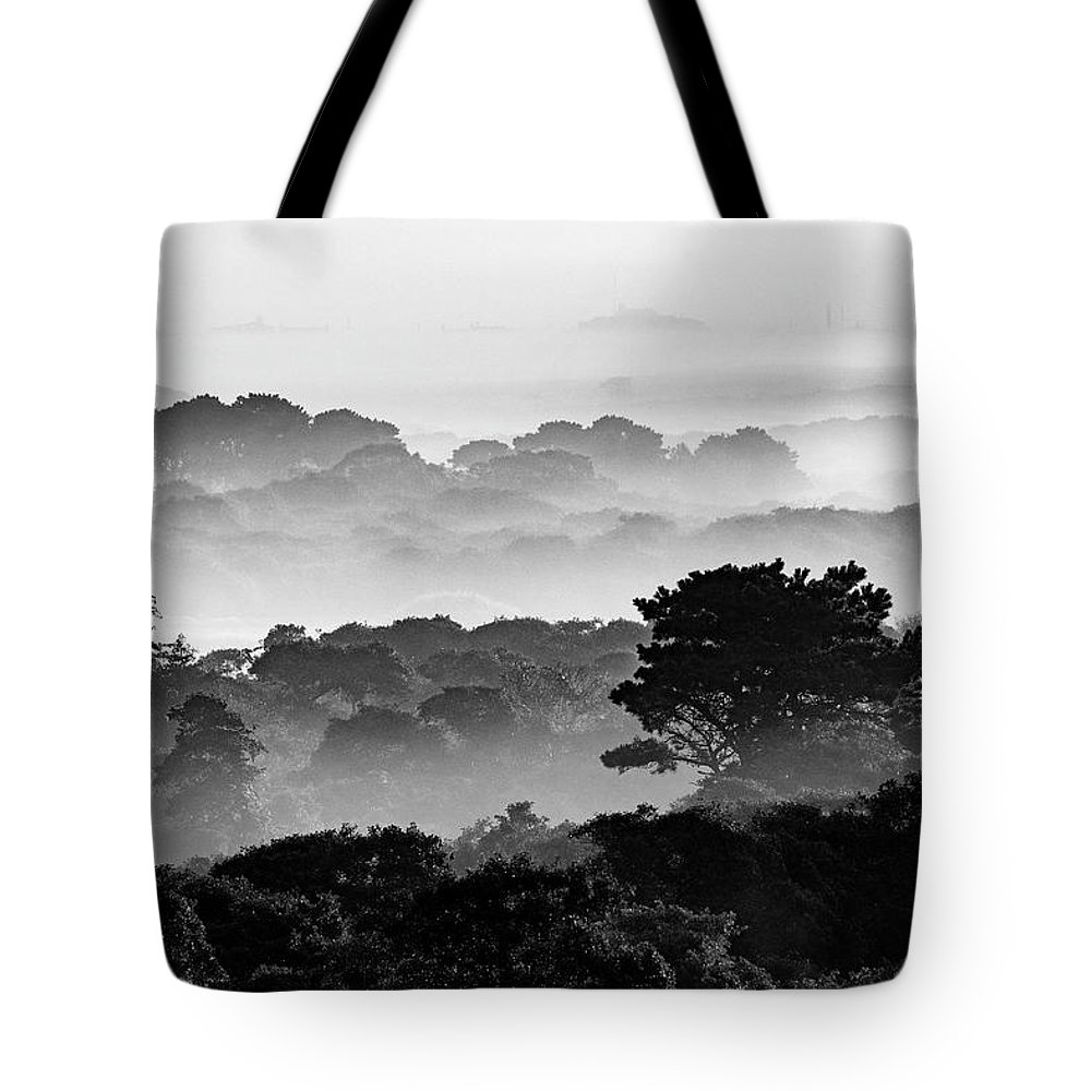 Nantucket Tote Bag featuring the photograph Nantucket Middle Moors In Fog by Katherine Gendreau