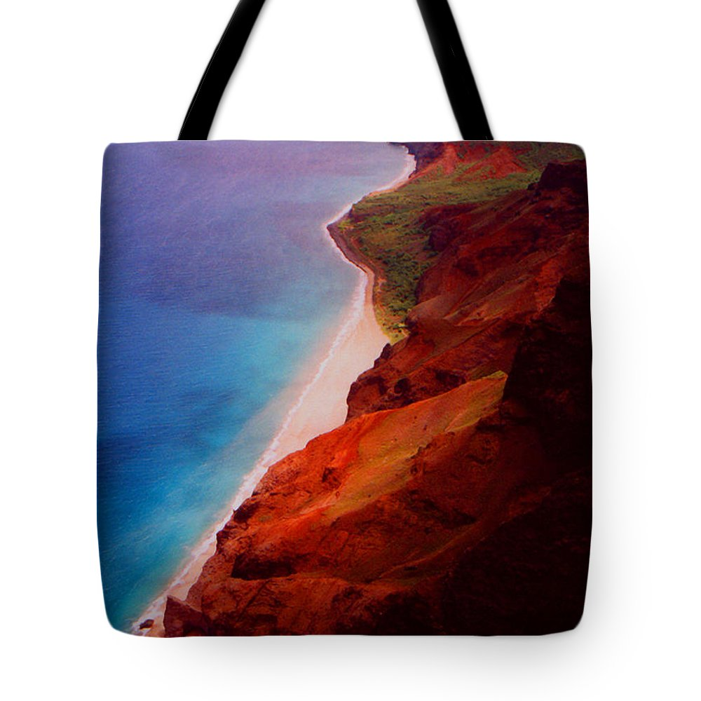Tote Bag featuring the photograph Napali Coast by Heather Kirk