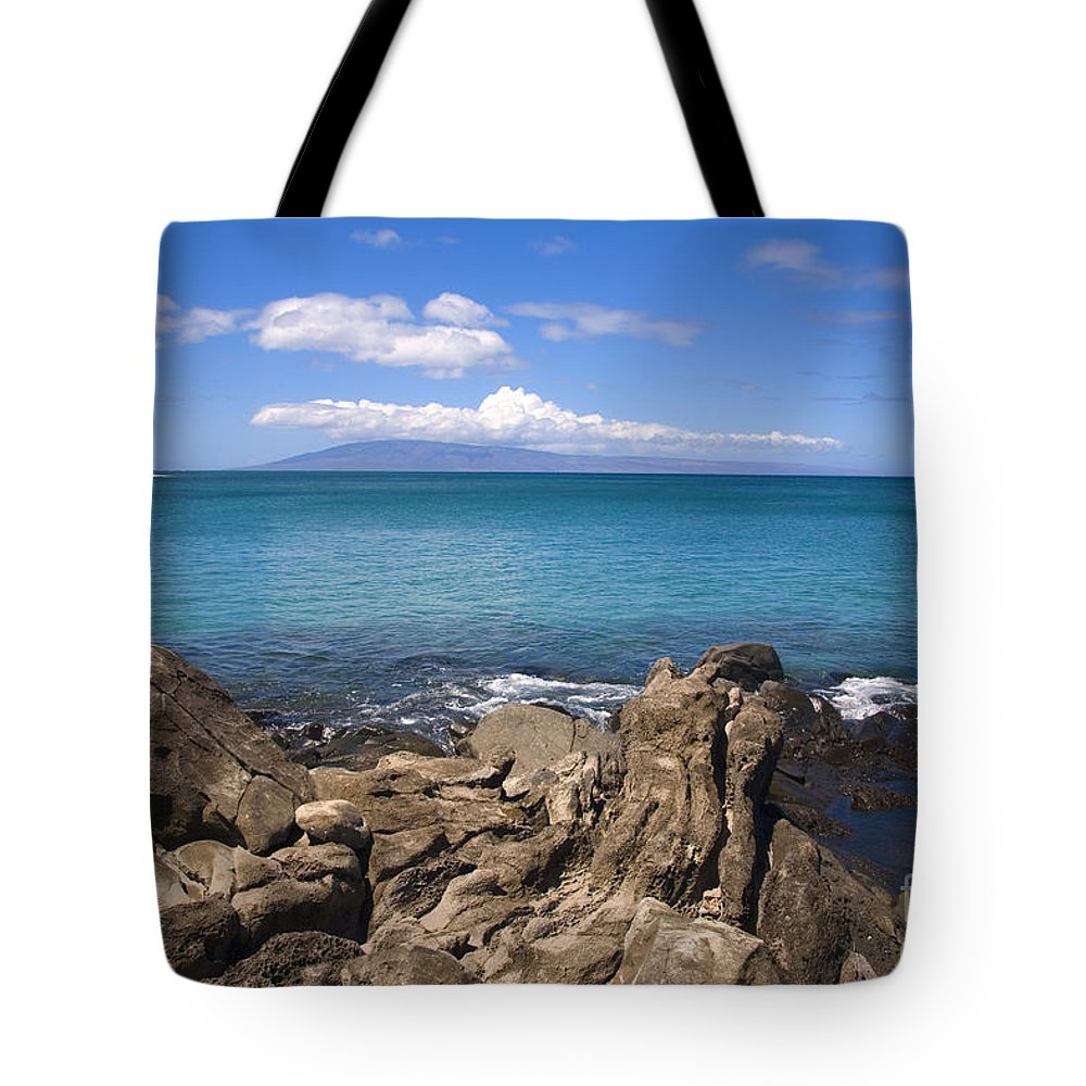 Bay Tote Bag featuring the photograph Napili Bay With Lanai by Ron Dahlquist - Printscapes