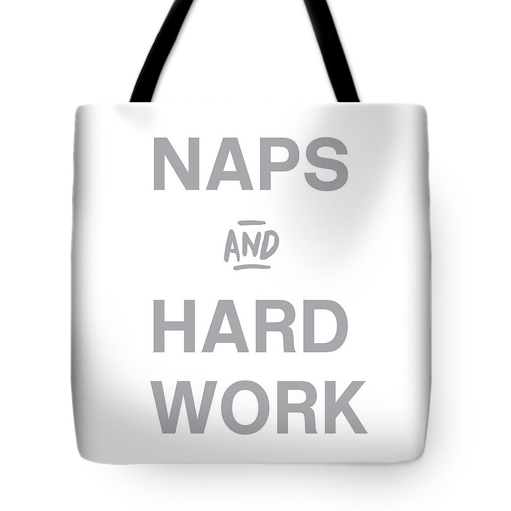 Naps Tote Bag featuring the digital art Naps And Hard Work- Art By Linda Woods by Linda Woods