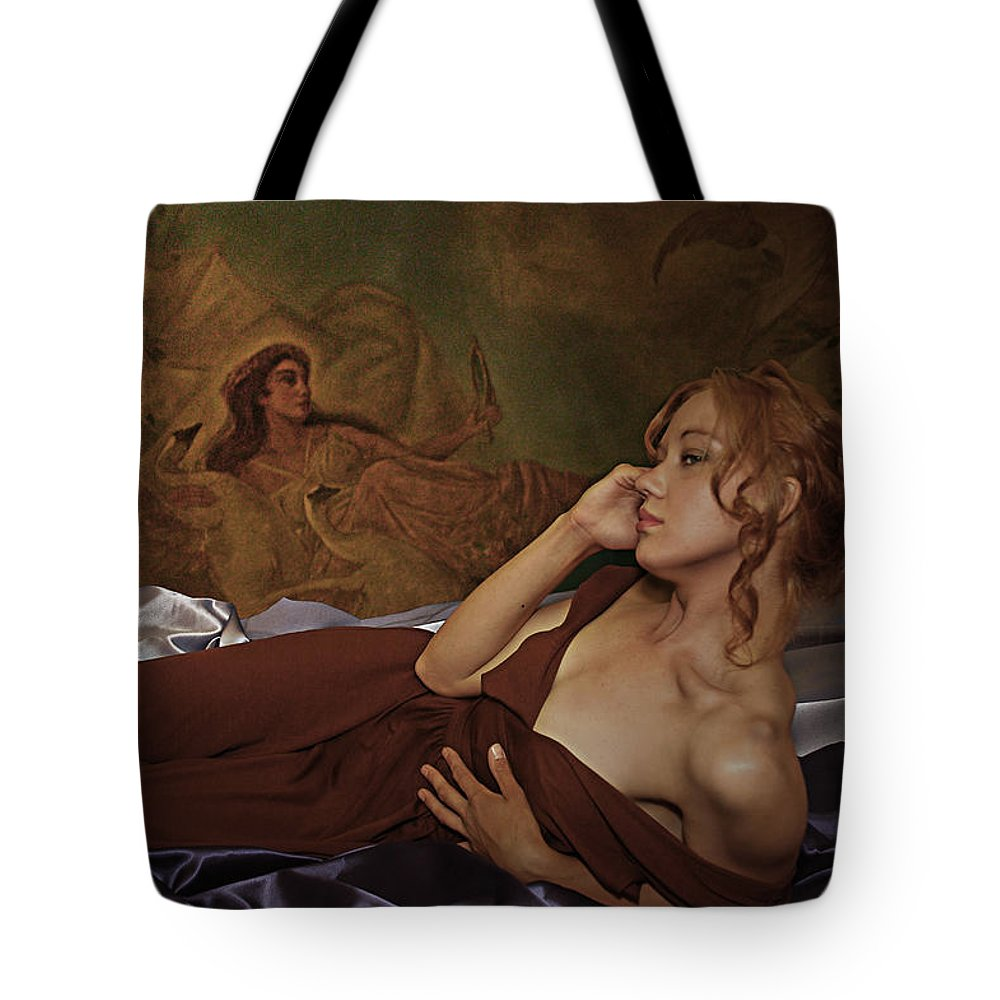 Narcissism Tote Bag featuring the photograph Narcissis by Jeff Burgess