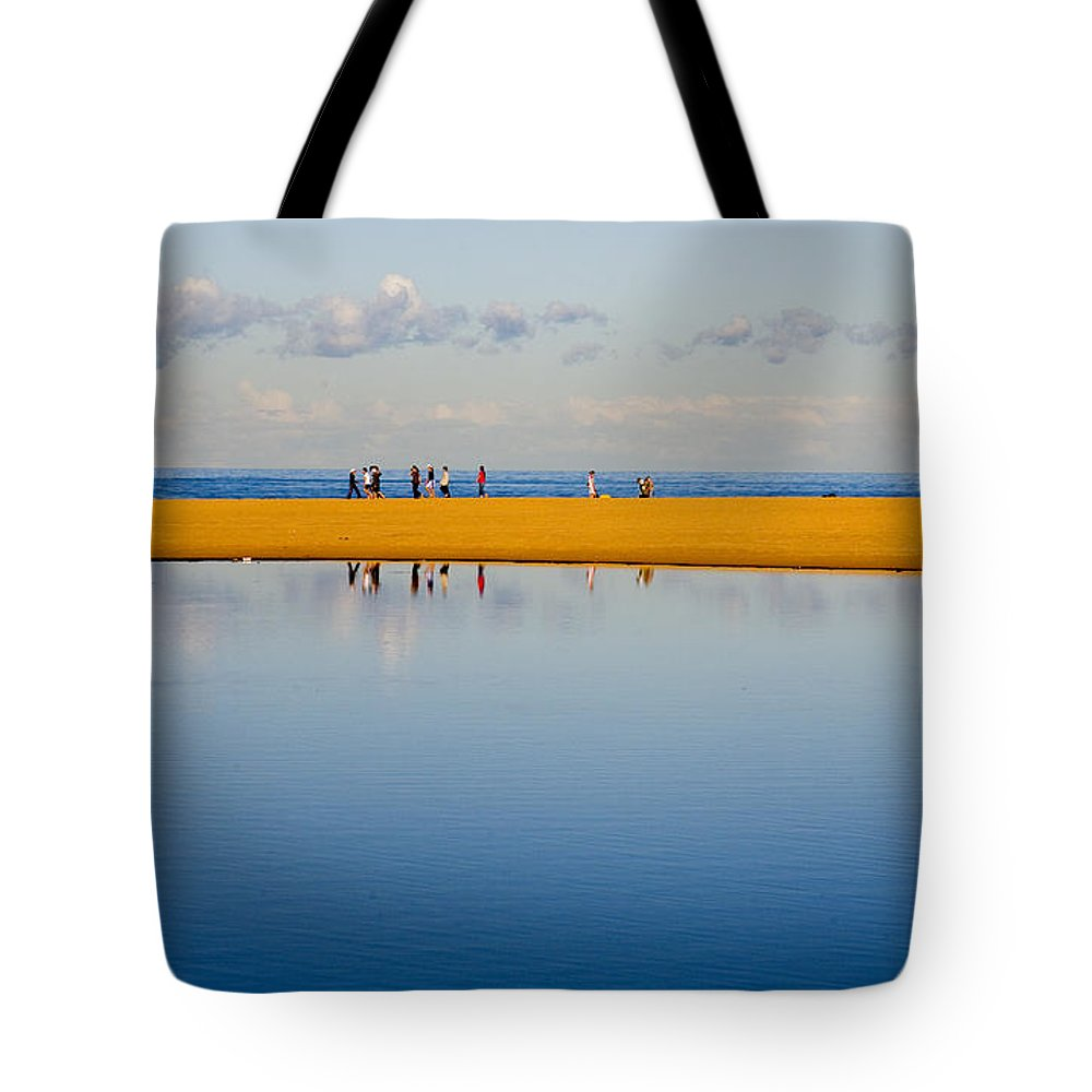 Dunes Lowry Sand Sky Reflection Sun Lifestyle Narrabeen Australia Tote Bag featuring the photograph Narrabeen Dunes by Avalon Fine Art Photography
