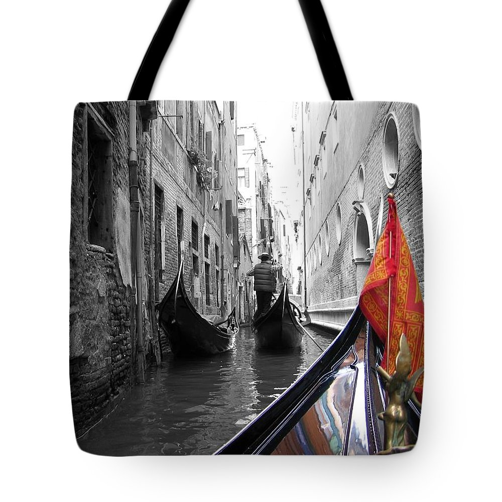 Cityscape Tote Bag featuring the photograph Narrow Journey by Dylan Punke