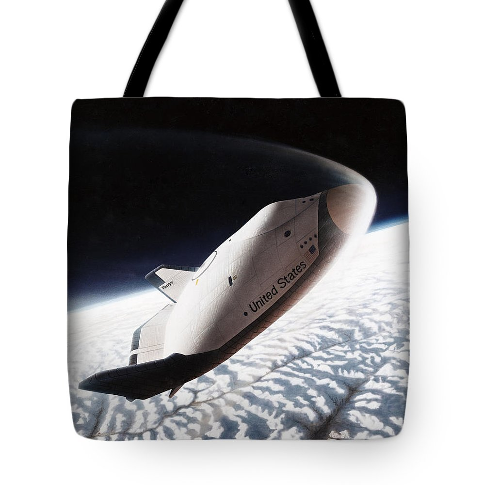 1996 Tote Bag featuring the photograph Nasa: Crew Return Vehicle by Granger
