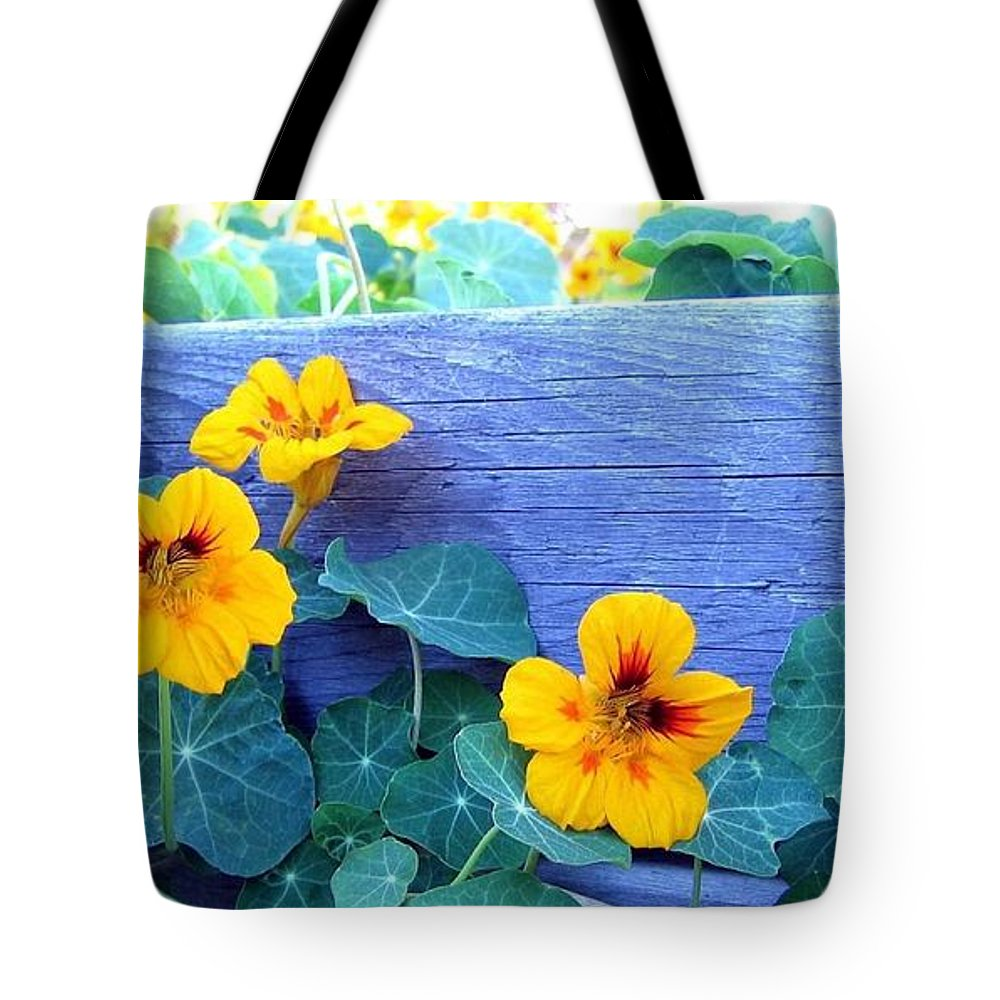 Nasturtiums Tote Bag featuring the photograph Nasturtium Box by Will Borden