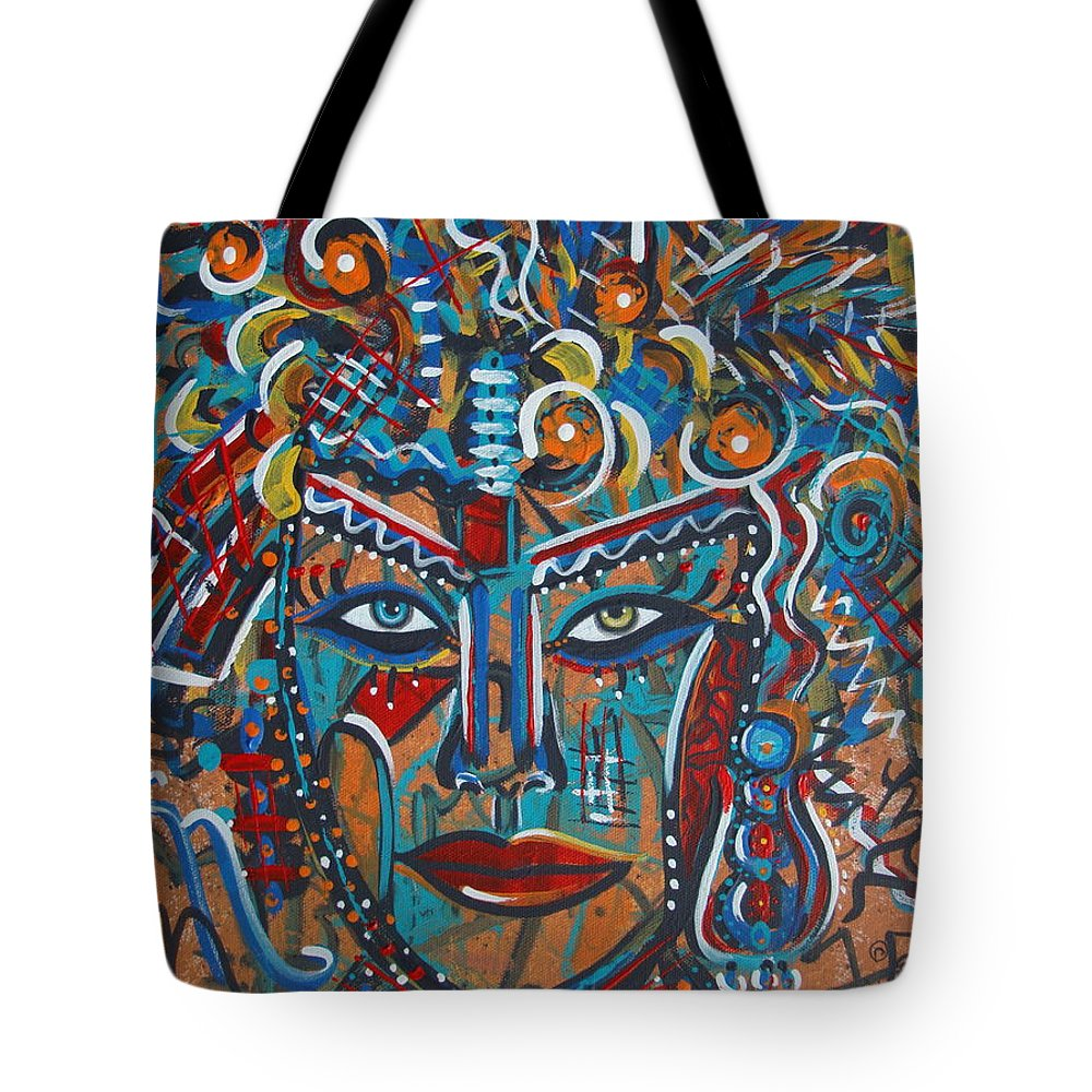 Abstract Tote Bag featuring the painting Nataliana by Natalie Holland