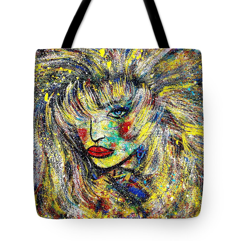 Portrait Tote Bag featuring the painting Natalya by Natalie Holland