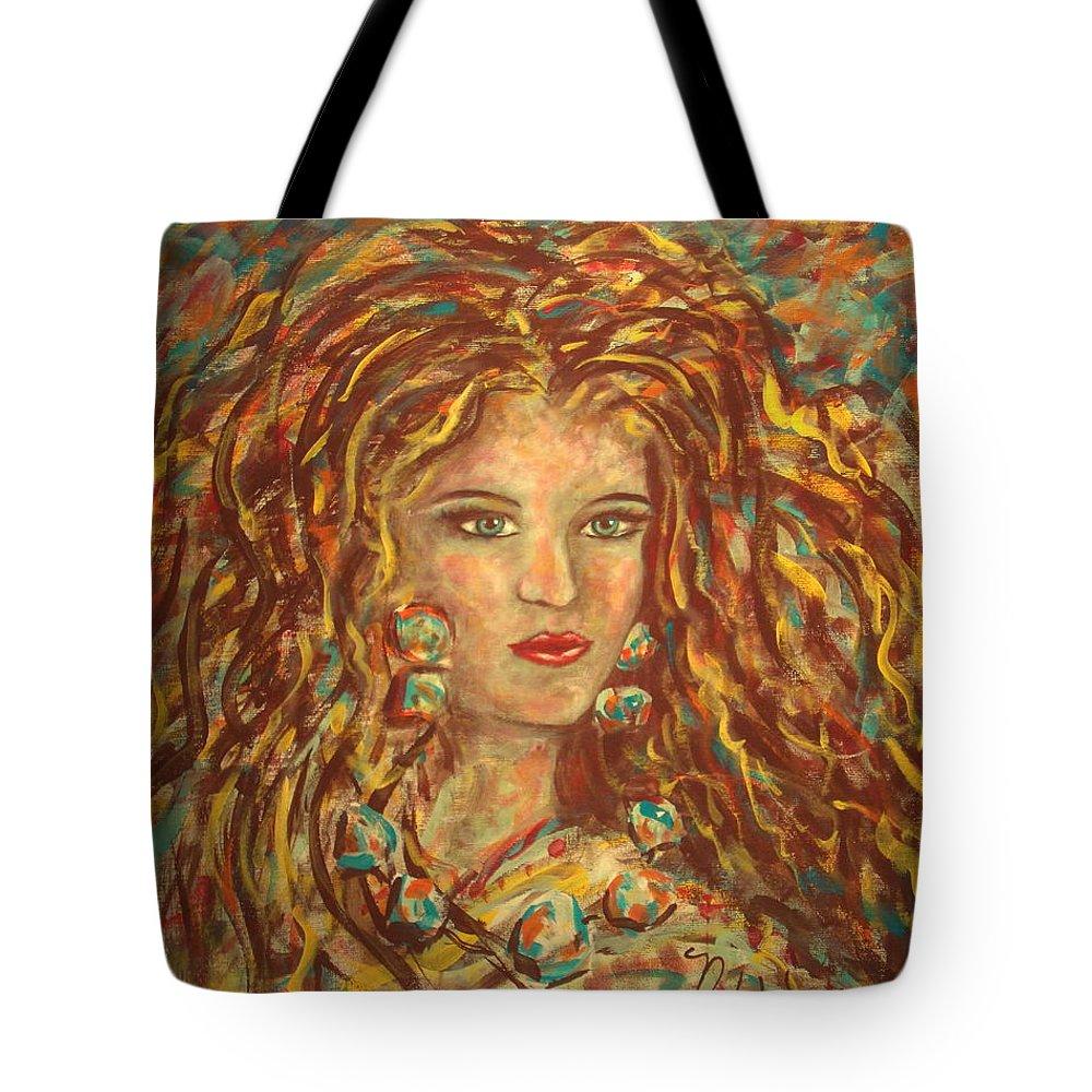 Natashka Tote Bag featuring the painting Natashka by Natalie Holland