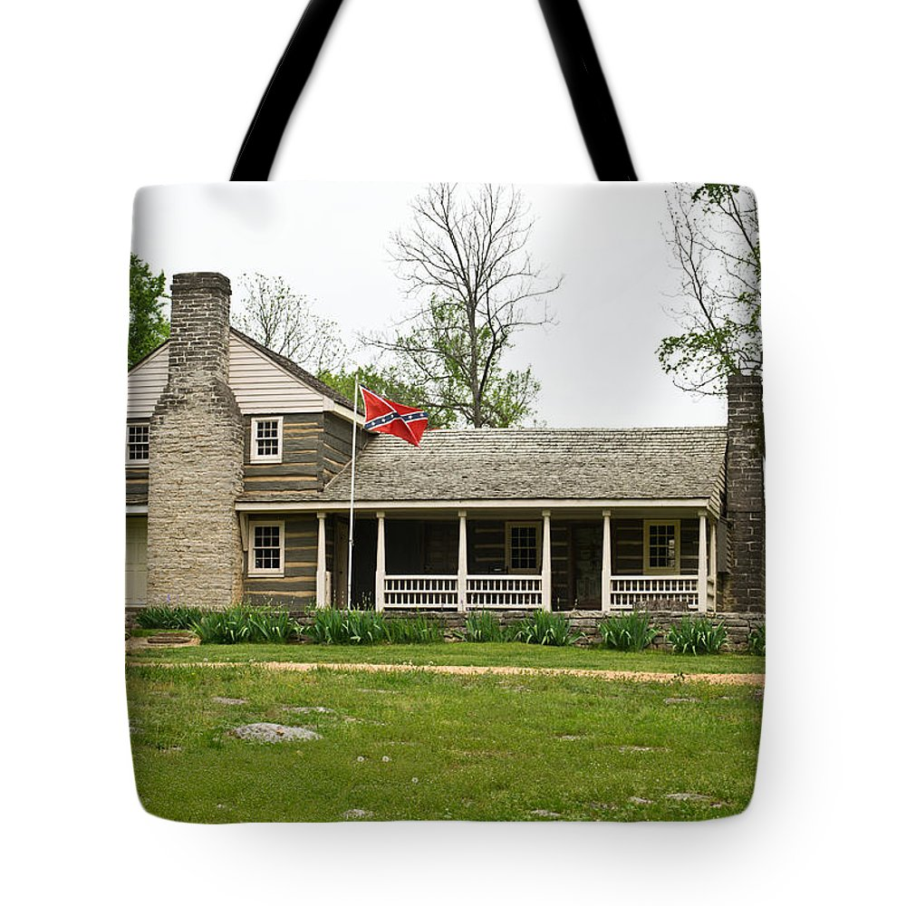 Nathan Tote Bag featuring the photograph Nathan Bedford Forrest Boyhood Home 3 by Douglas Barnett