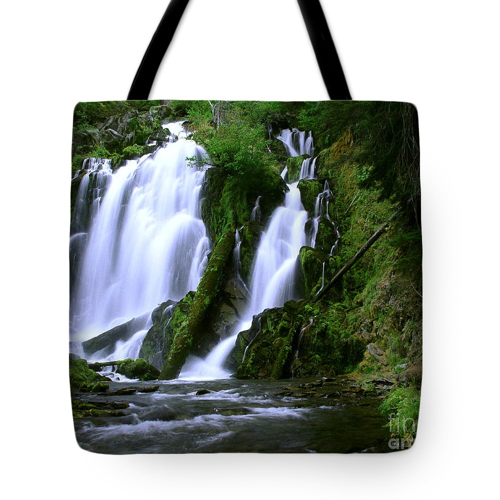 Waterfall Tote Bag featuring the photograph National Creek Falls 02 by Peter Piatt