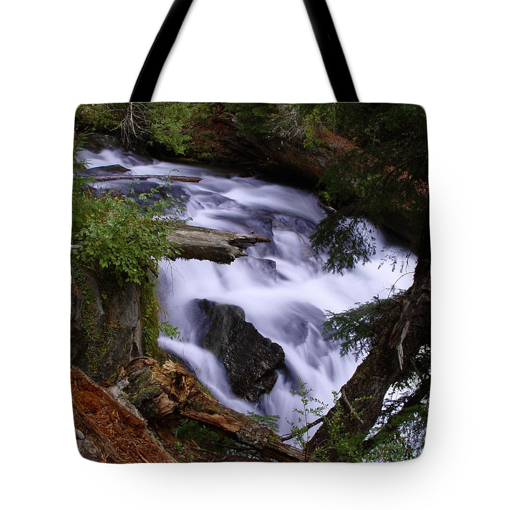 Waterfall Tote Bag featuring the photograph National Creek Falls 03 by Peter Piatt