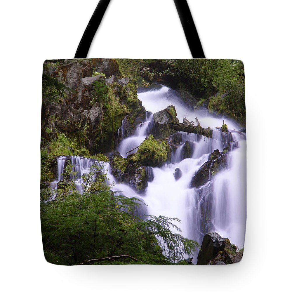 Waterfall Tote Bag featuring the photograph National Creek Falls 05 by Peter Piatt