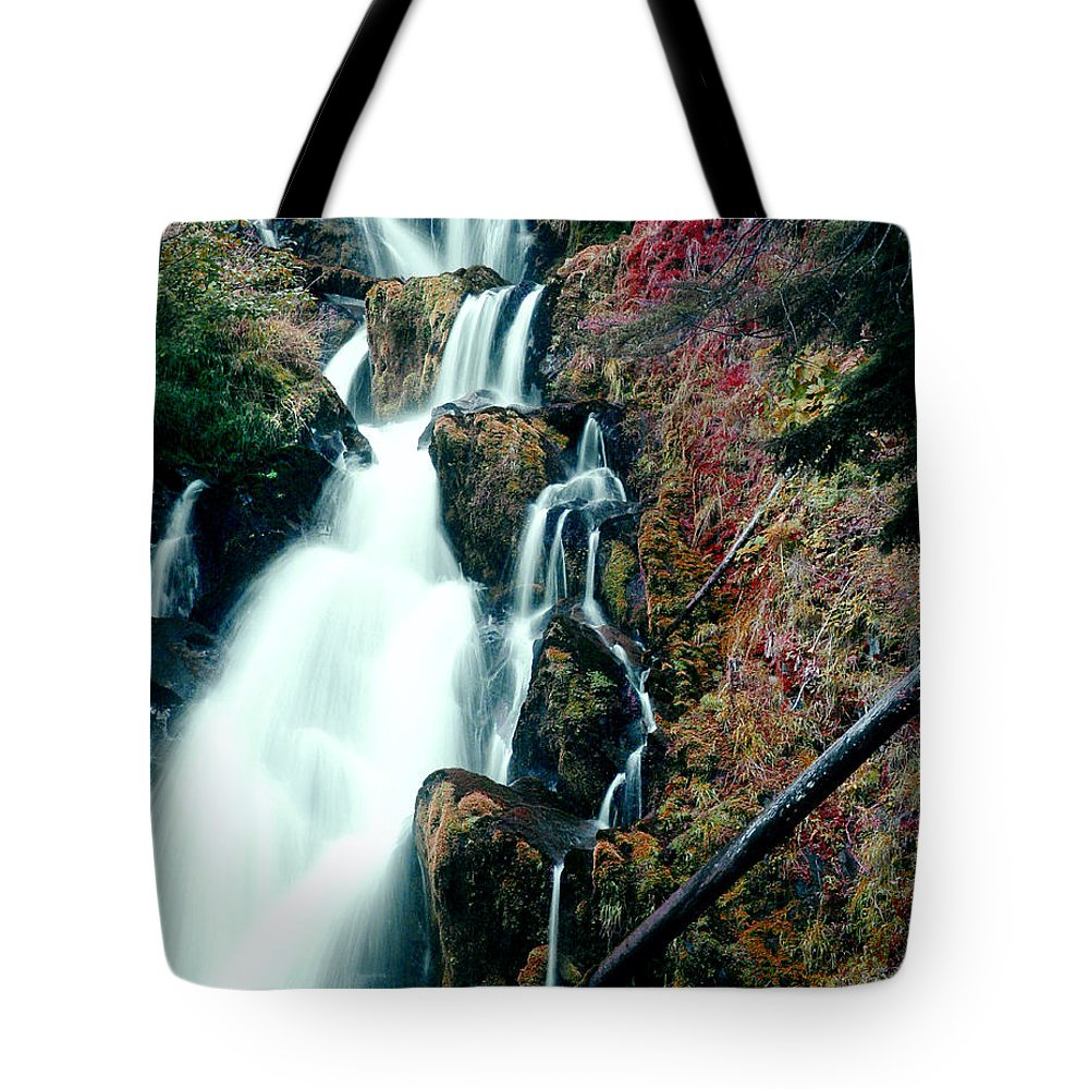 Waterfall Tote Bag featuring the photograph National Creek Falls 07 by Peter Piatt