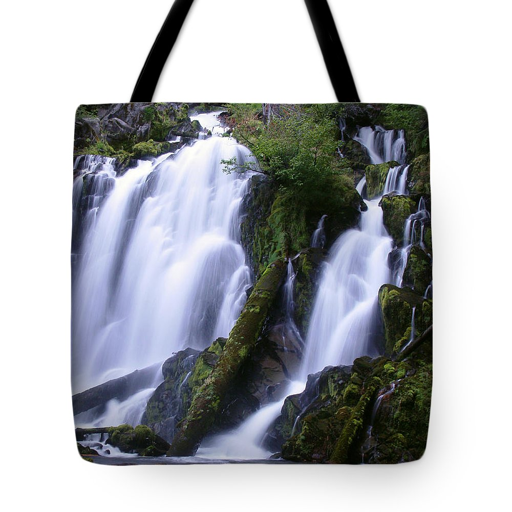 Waterfall Tote Bag featuring the photograph National Creek Falls 09 by Peter Piatt