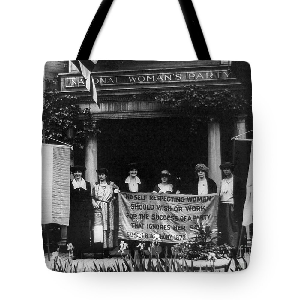 1920s Tote Bag featuring the photograph National Womens Party by Granger
