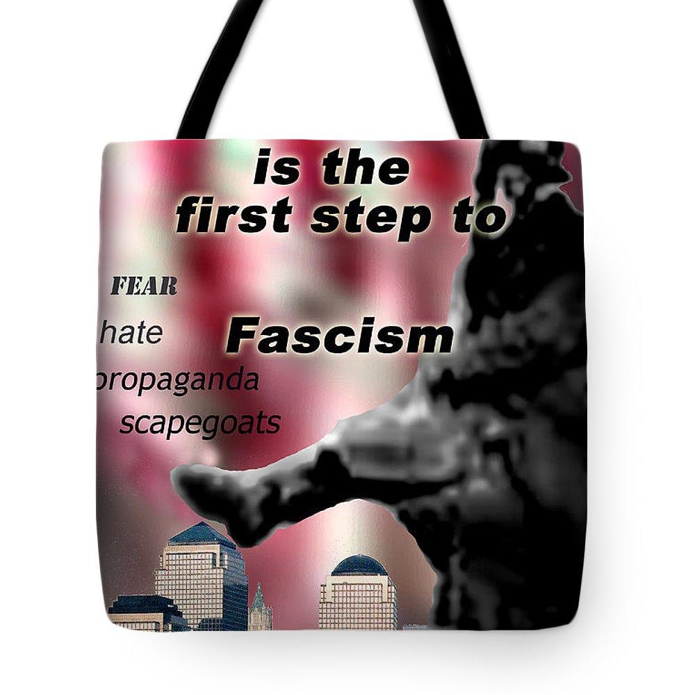 Politics Tote Bag featuring the digital art Nationalism by Steve Karol