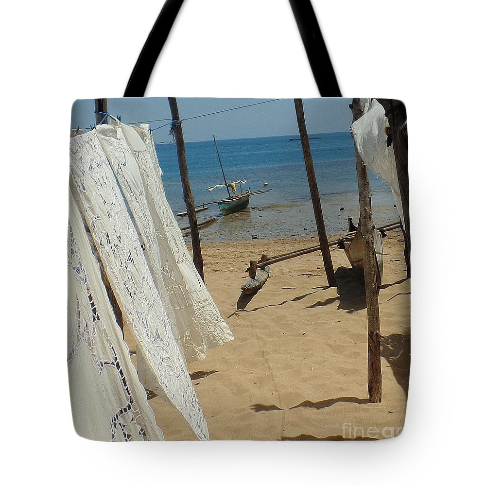 Native Tote Bag featuring the photograph Native Beach Scene by John Potts