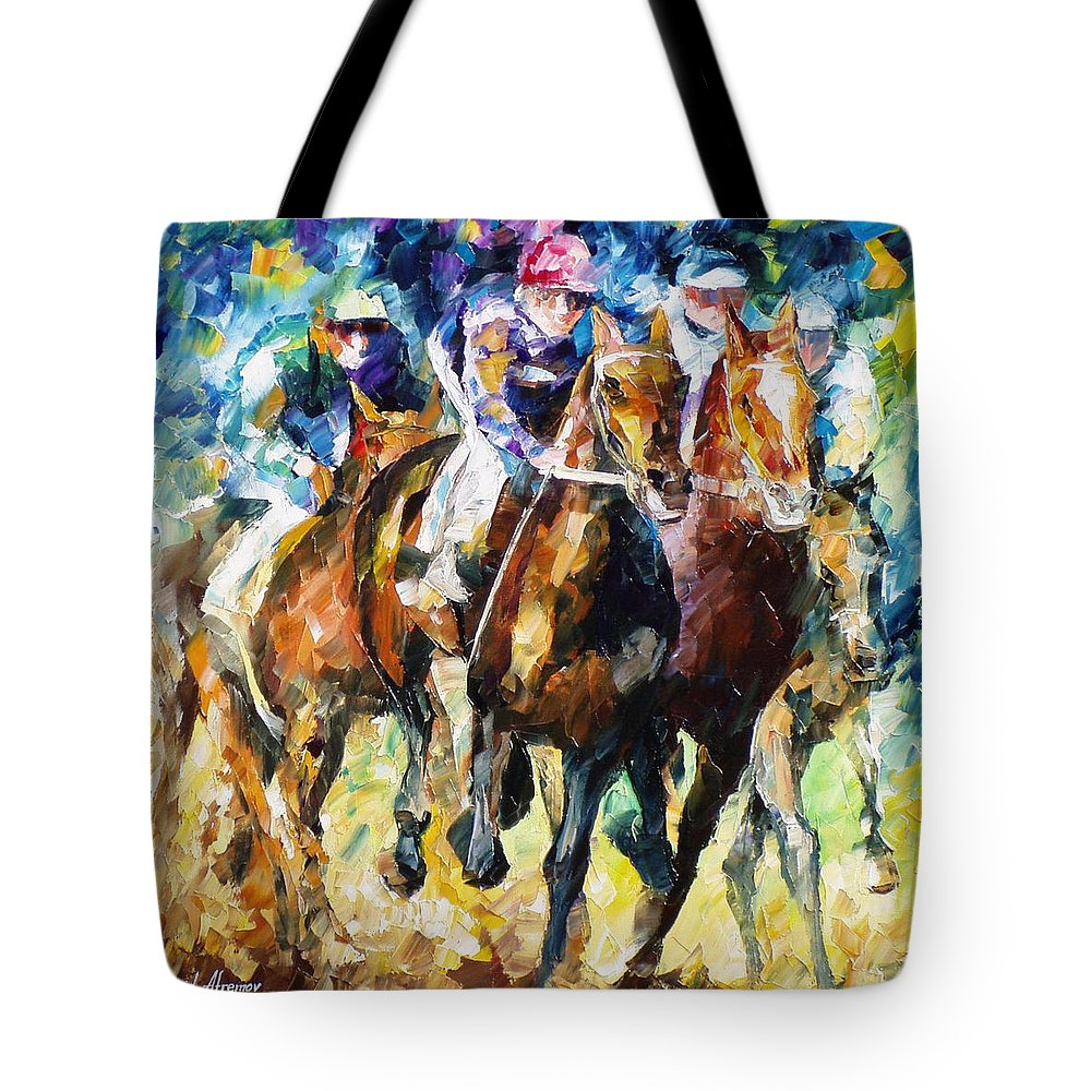 Art Gallery Tote Bag featuring the painting Native Raiser - Palette Knife Oil Painting On Canvas By Leonid Afremov by Leonid Afremov