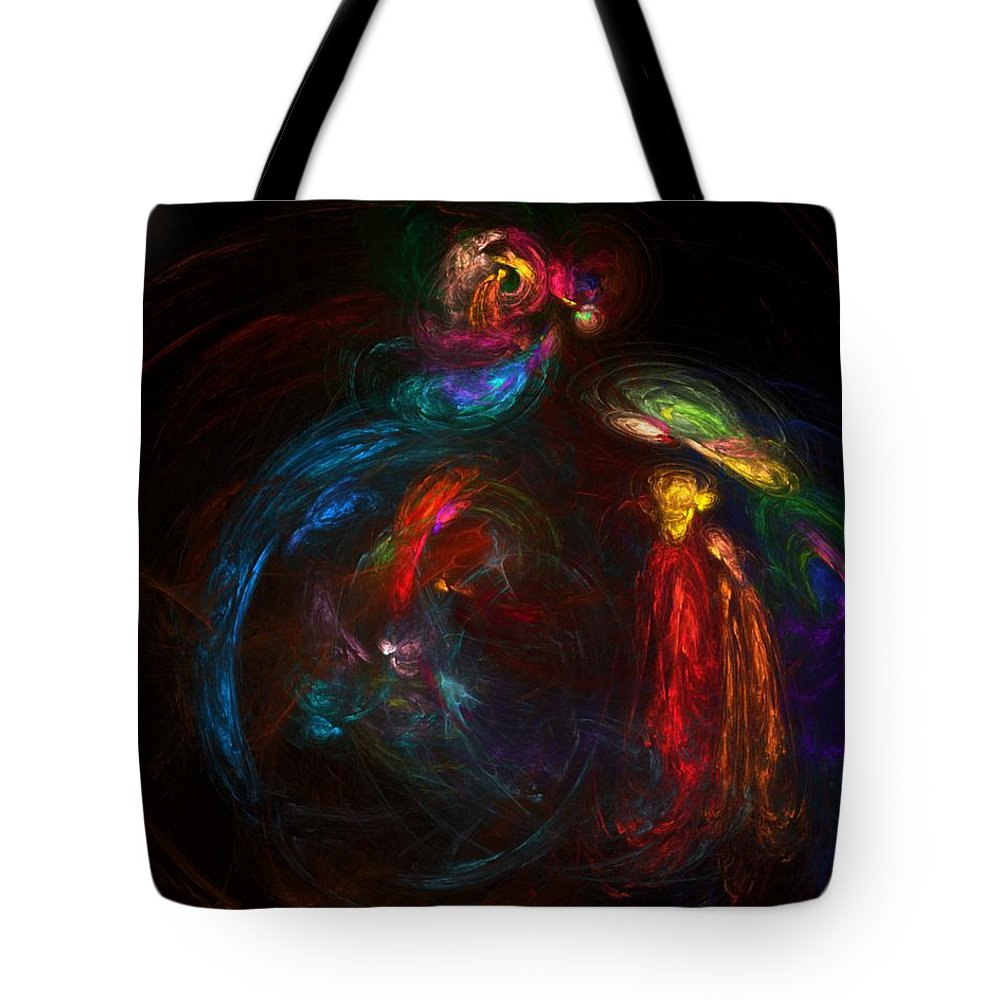 Fine Art Tote Bag featuring the digital art Nativity by David Lane