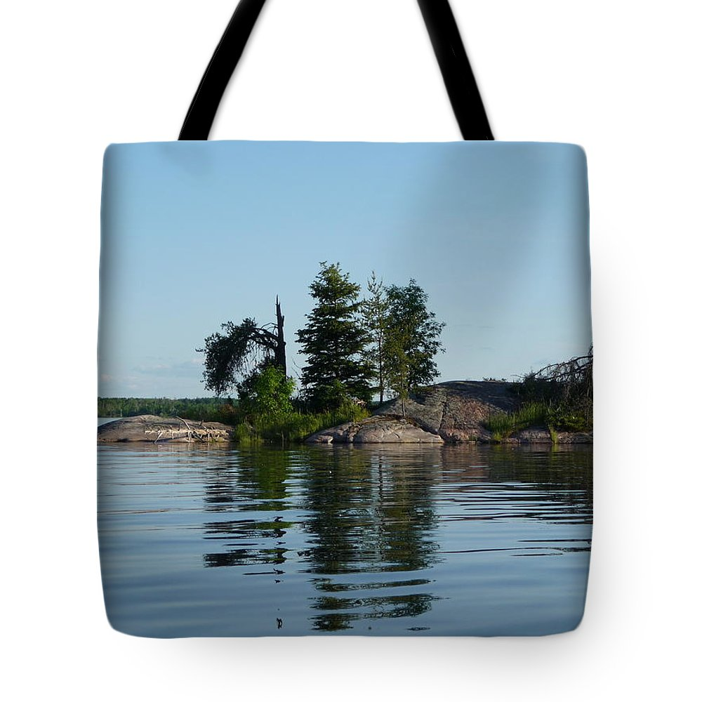 Lake Tote Bag featuring the photograph Natural Breakwater by Ruth Kamenev
