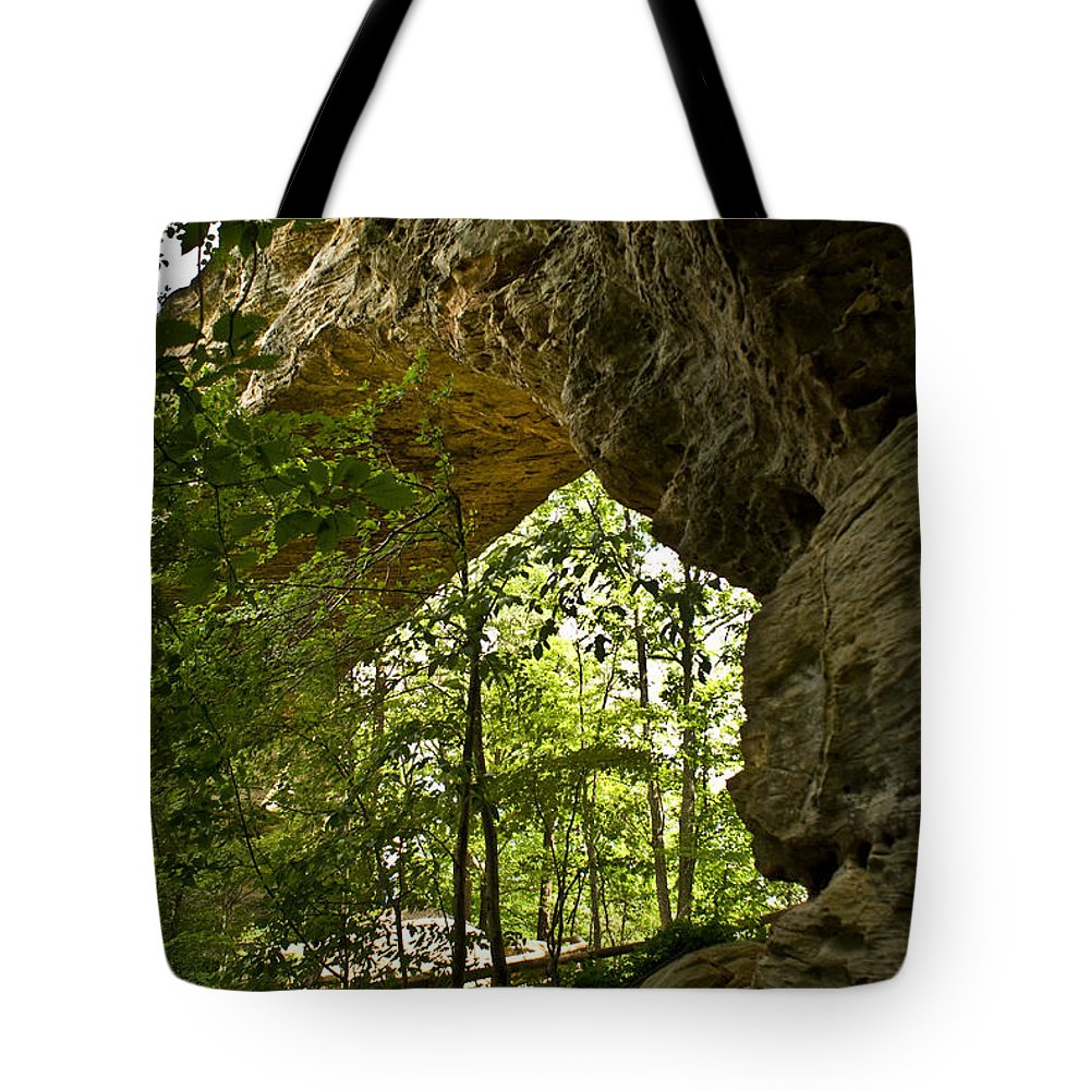 Natural Tote Bag featuring the photograph Natural Bridge Arch by Douglas Barnett