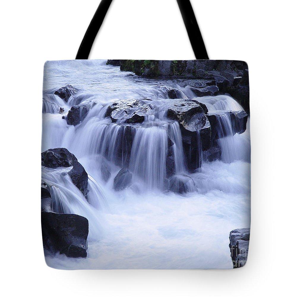Waterfall Tote Bag featuring the photograph Natural Bridges Falls 01 by Peter Piatt