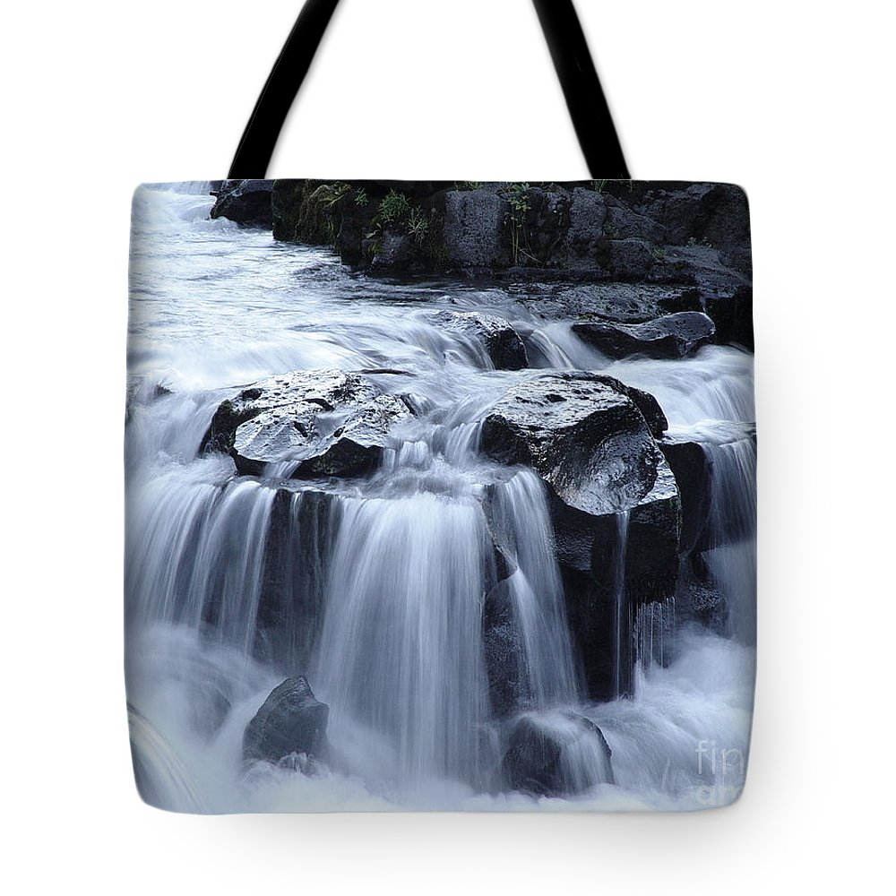 Waterfall Tote Bag featuring the photograph Natural Bridges Falls 02 by Peter Piatt