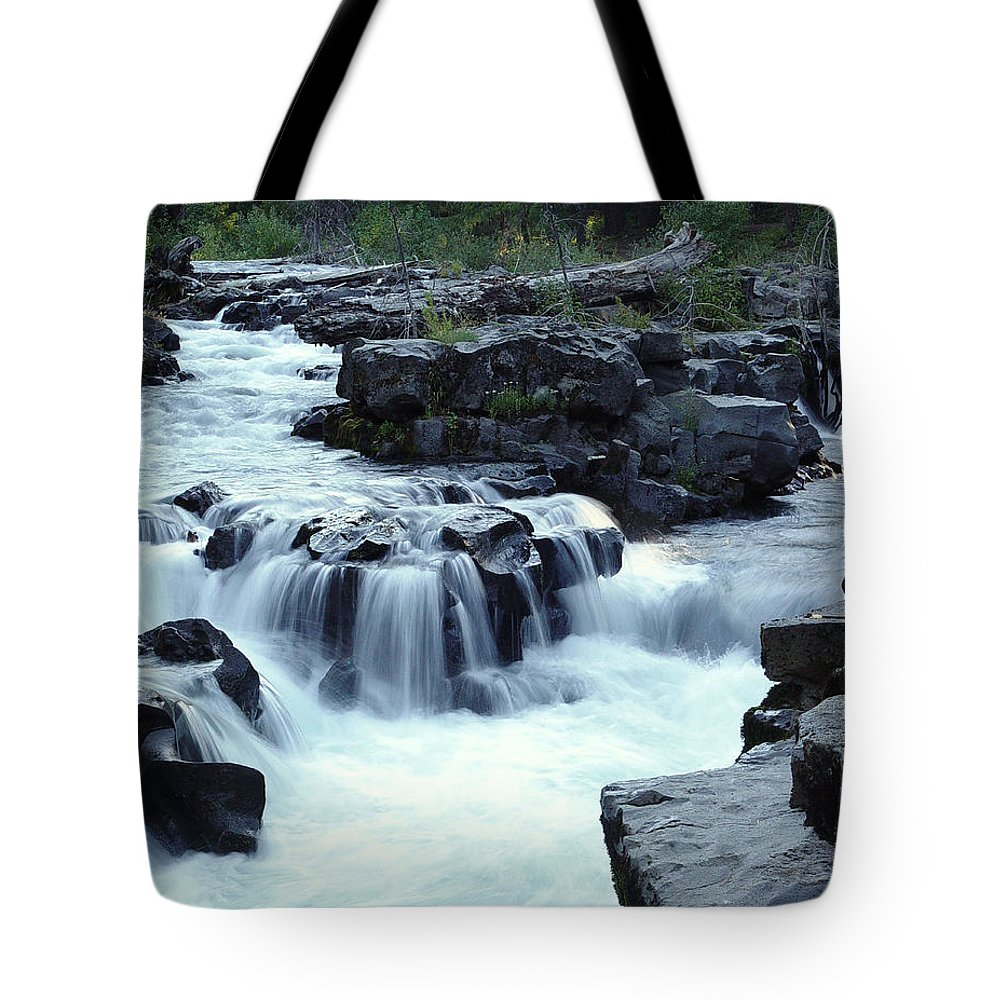 Waterfall Tote Bag featuring the photograph Natural Bridges Falls 03 by Peter Piatt