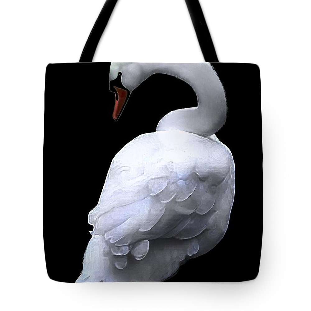 Seabirds Tote Bag featuring the digital art Natural Elegance by Dale  Ford
