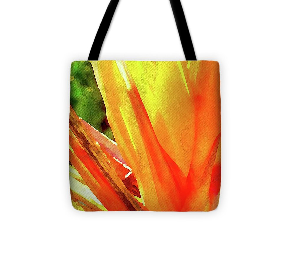 Natural High Tote Bag featuring the digital art Natural High Digital Watercolor by James Temple