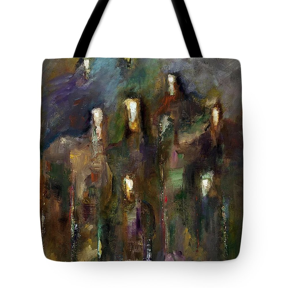 Horses Tote Bag featuring the painting Natural Instincts by Frances Marino