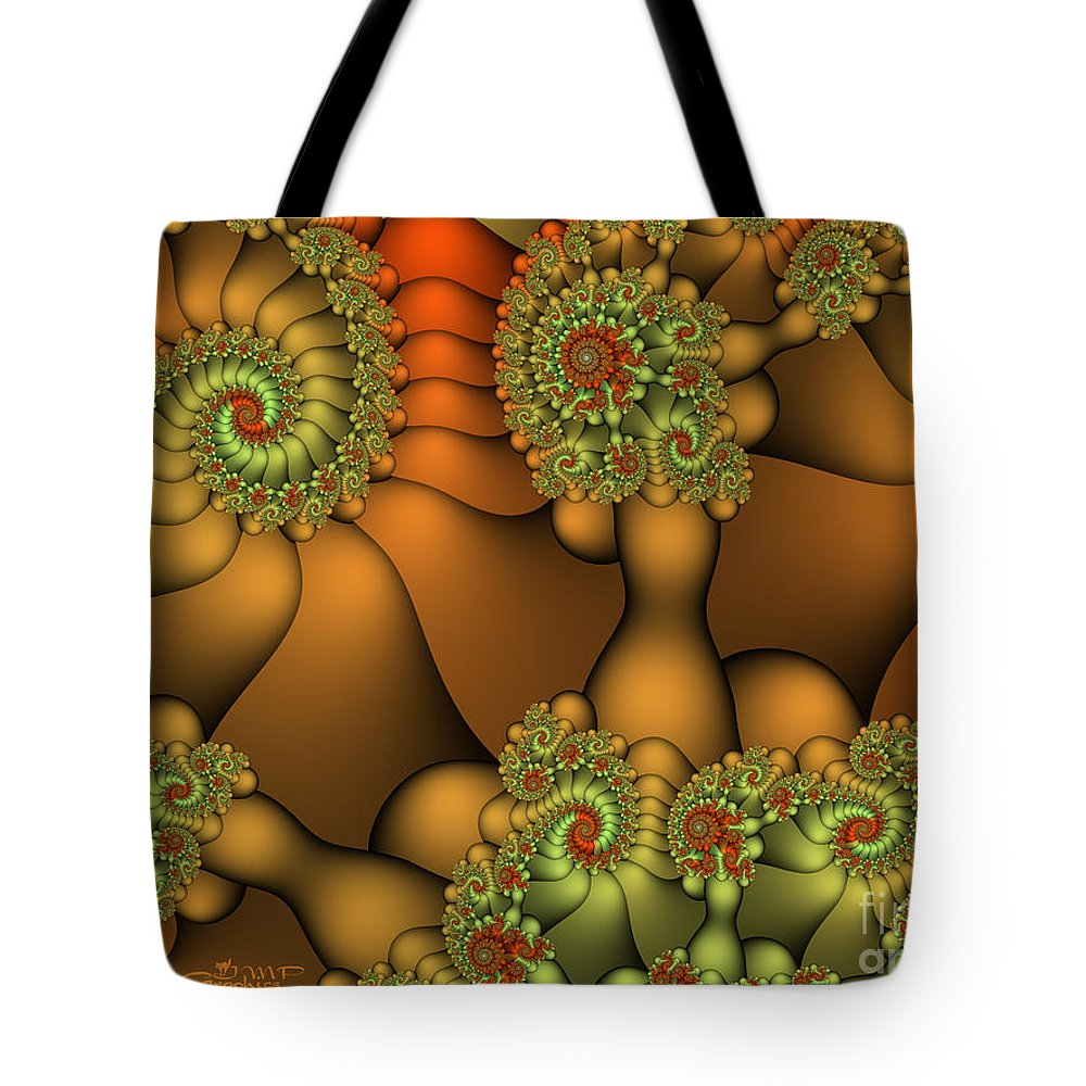 Fractal Tote Bag featuring the digital art Natural Jewels by Jutta Maria Pusl