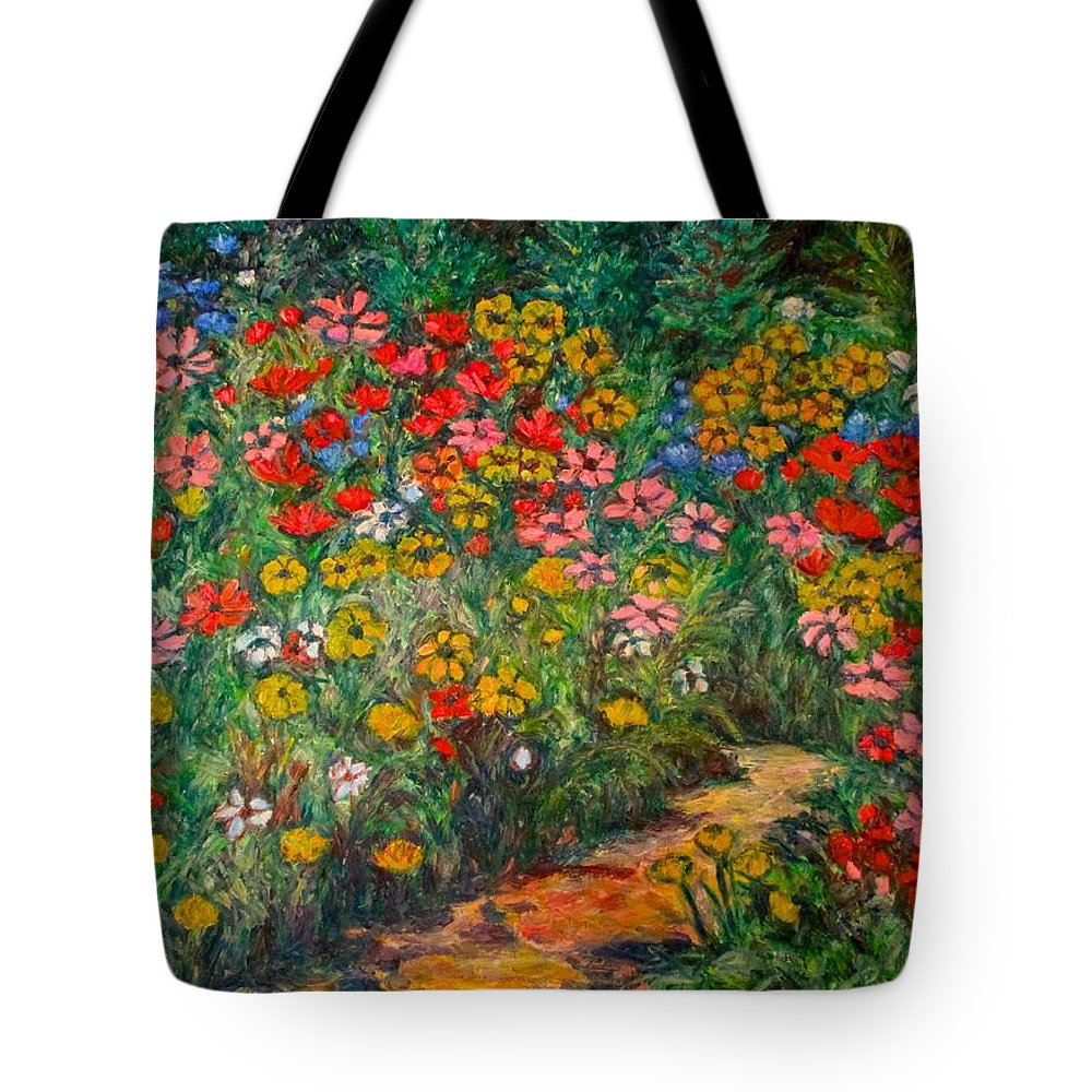 Wildflowers Tote Bag featuring the painting Natural Rhythm by Kendall Kessler