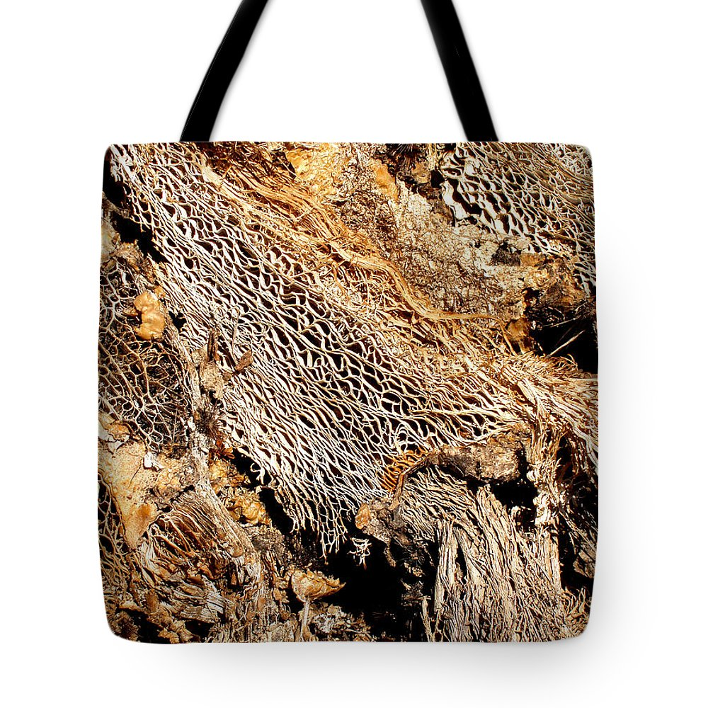 Texture Tote Bag featuring the photograph Natural Textural Abstract by Wayne Potrafka