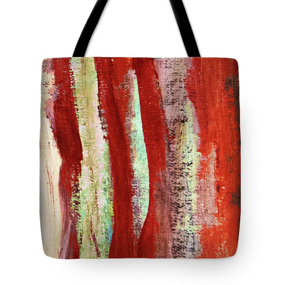 Paintings Tote Bag featuring the painting Natural Textures by Dori Sanz
