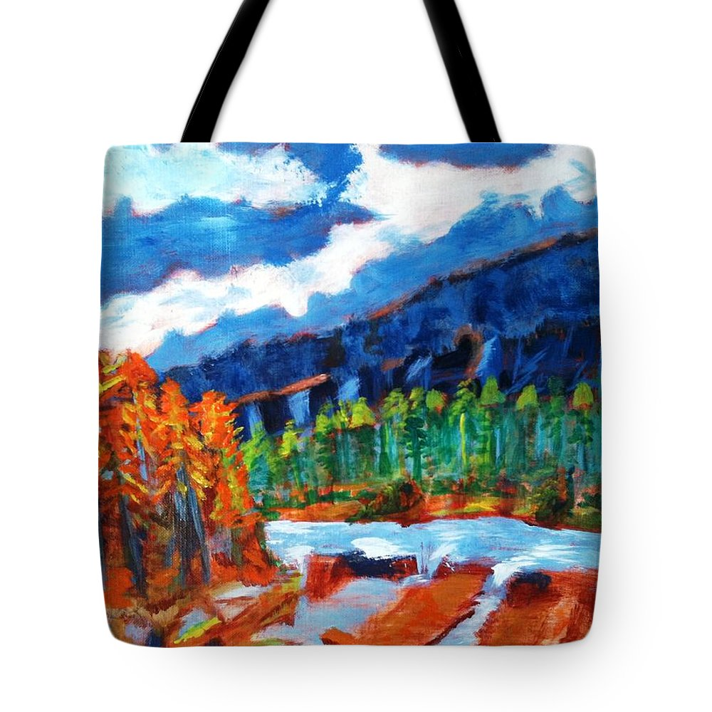 Mountains Tote Bag featuring the painting Naturals by R B