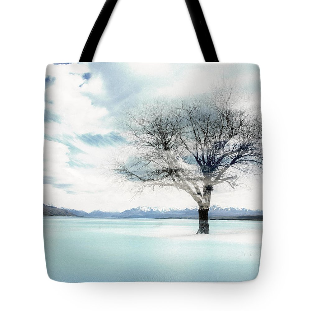 Nature Tote Bag featuring the photograph Nature - The Lonely Tree by Munir Alawi