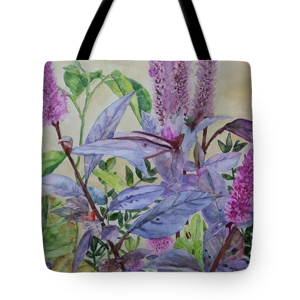 Plants Tote Bag featuring the painting Nature by Carissa Munoz