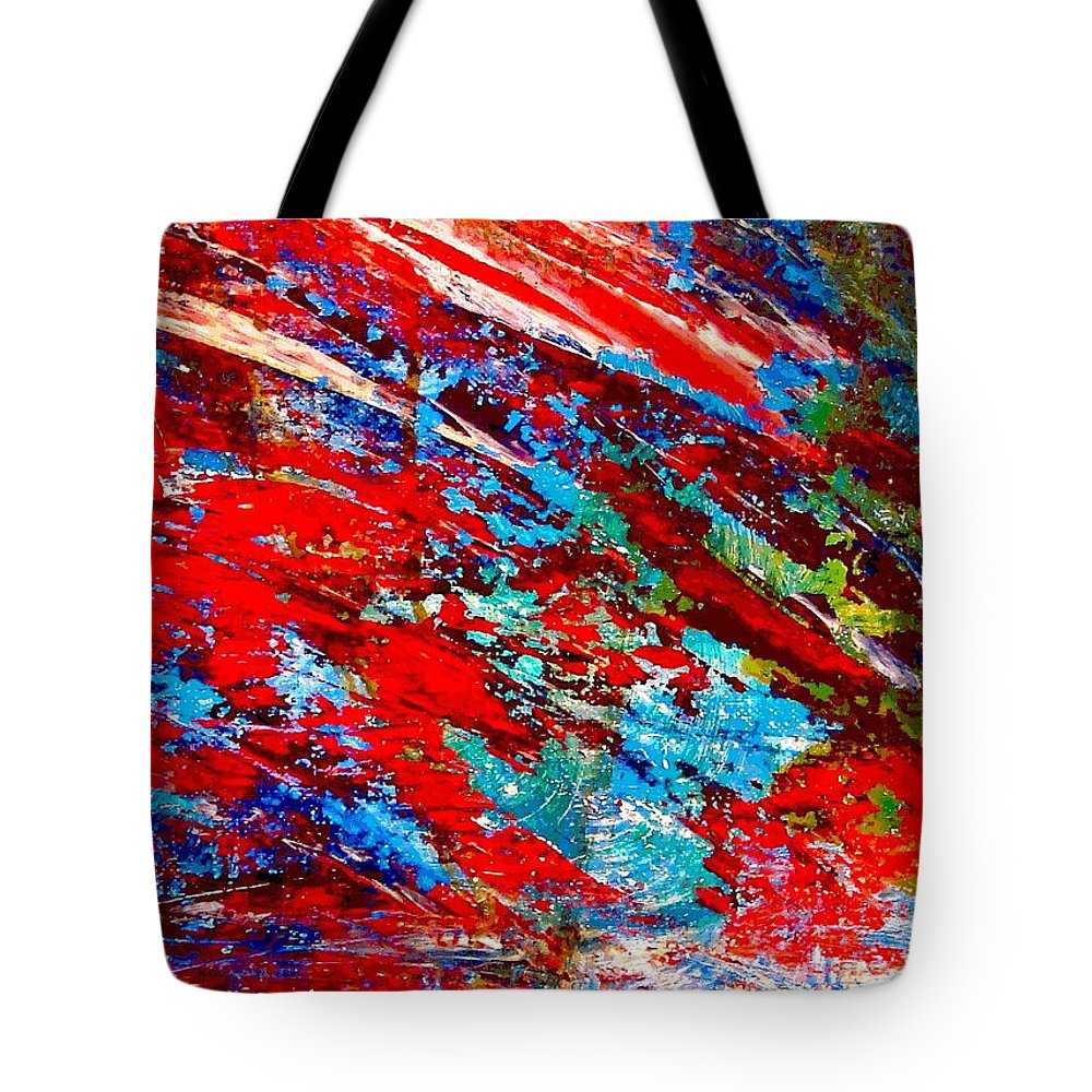Abstract Tote Bag featuring the painting Nature Harmony by Natalie Holland