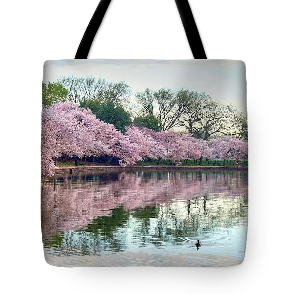 Cherry Blossoms Tote Bag featuring the photograph Nature Heals by Mitch Cat