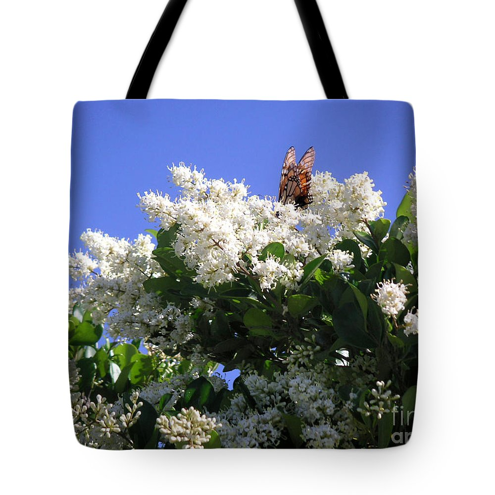 Nature Tote Bag featuring the photograph Nature In The Wild - Bathing In Blooms by Lucyna A M Green