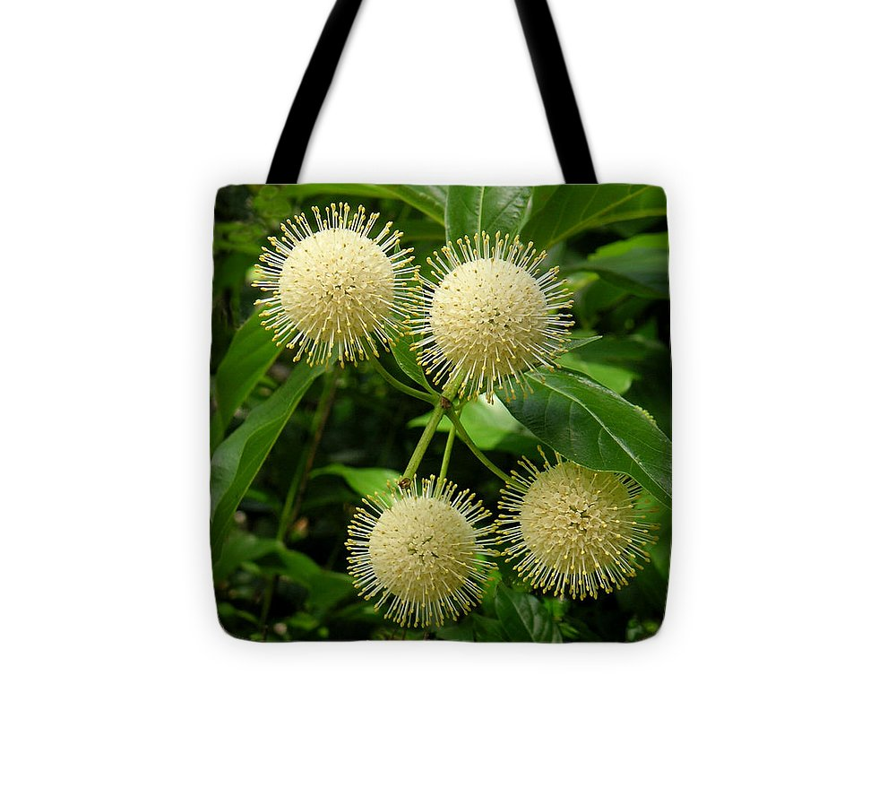 Nature Tote Bag featuring the photograph Nature In The Wild - Pin Cushions Of Nature by Lucyna A M Green