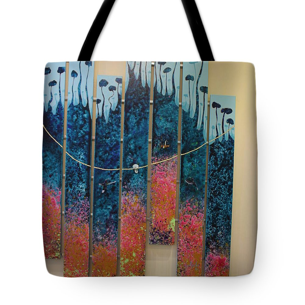 Obra En Lienzo Tote Bag featuring the painting Nature by Leys Magallon