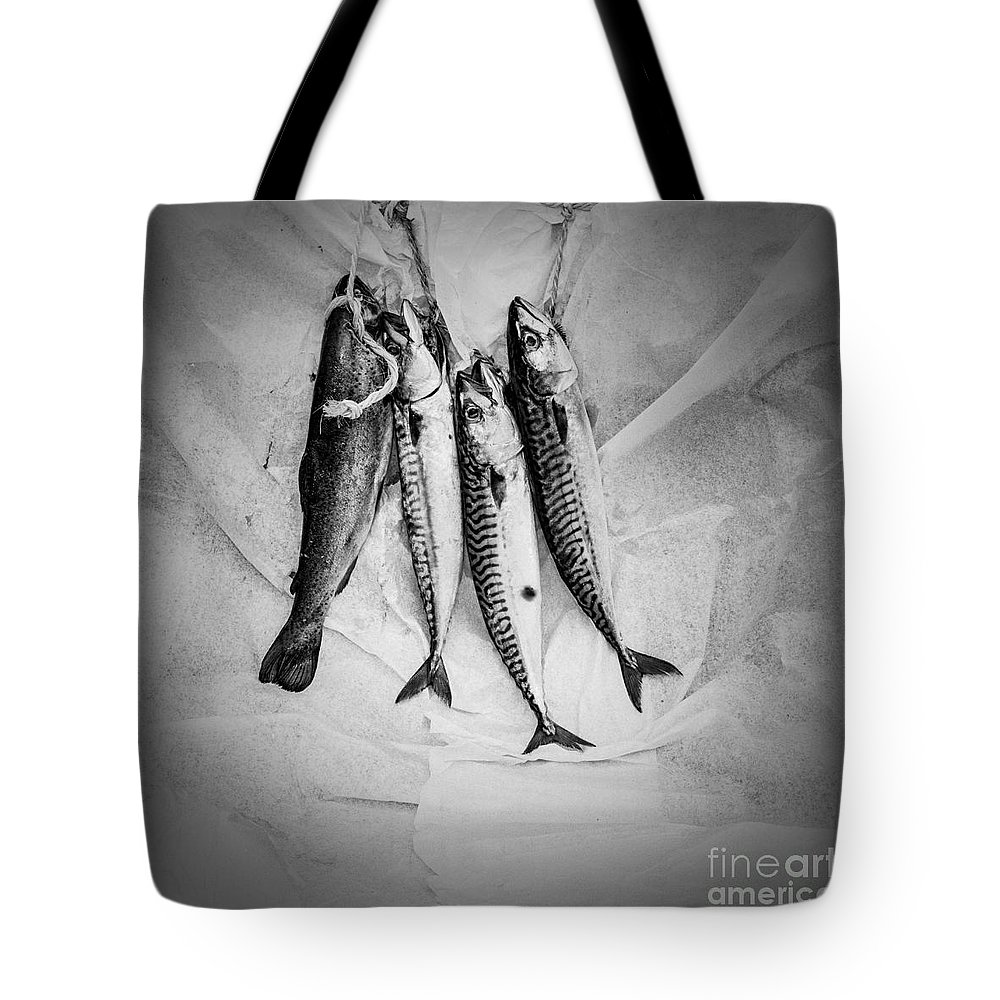 Tote Bag featuring the pyrography Nature Morte Dans Le Cuisine - Still Life In The Kitchen. by Cyril Jayant