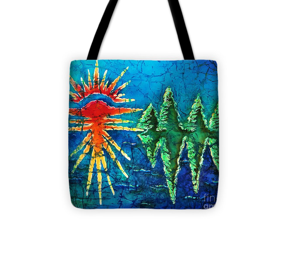 Trees Tote Bag featuring the painting Nature by Sue Duda